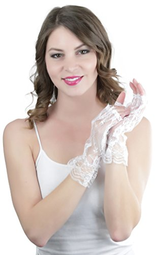 ToBeI (White Lace Fingerless Gloves)