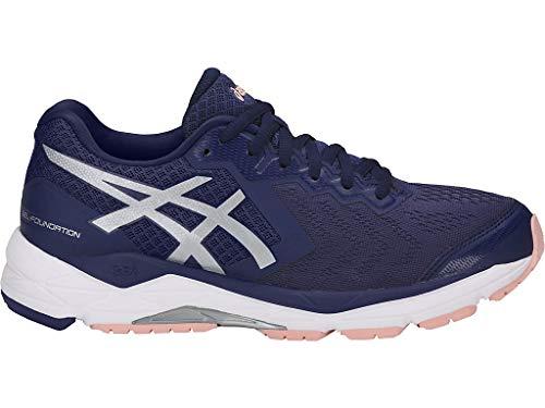 ASICS Women's Gel-Foundation 13 Running Shoes, 9W, Indigo Blue/Silver/Seashell PI