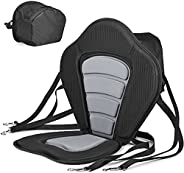 Solomone Cavalli Deluxe Padded Kayak Seat with Storage Bag, Adjustable Cushions for Canoe Fishing Boat Paddle