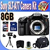 Sony A77 24.3 MP Digital SLR with Translucent Mirror Technology (Body ONLY) W/8GB SDHC Memory Accessory Saver Bundle