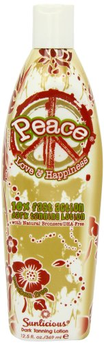 Synergy Tan Peace Bronzer Natural Bronzer Tanning Lotion 12.5 oz.