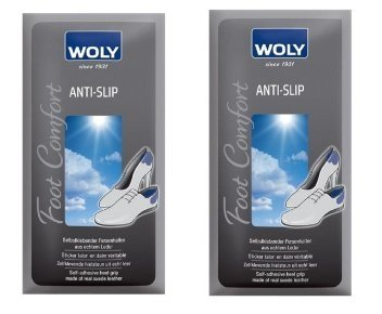 2 Woly Anti Slip Heel Grip for Shoes. Stops Heel Slip and Blisters Forming.- Pack of (Combi Stick)