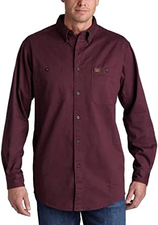 RIGGS WORKWEAR by Wrangler Men's Big and Tall Logger Shirt,Burgundy,Large Tall