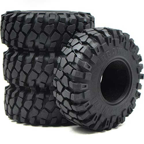 4pcs RC 2.2 Rock Crawler Soft Tires Fit Axial Gmade RC4WD 2.2'' beadlock Wheels ()