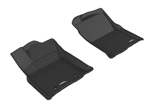 3D MAXpider Front Row Custom Fit All-Weather Floor Mat for Select Toyota Tacoma Models - Kagu Rubber (Black)