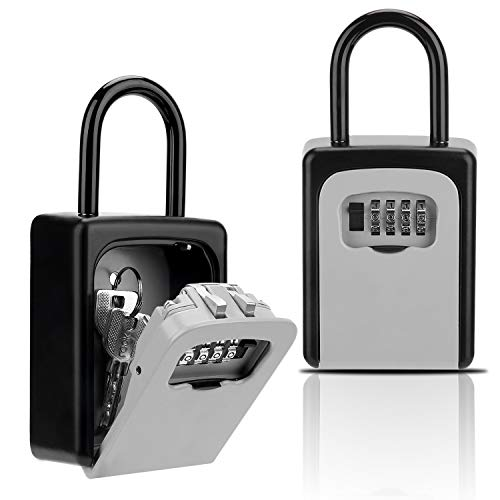 Key Lock Box, Combination Lockbox with Code for House Key Storage, Combo Door Locker ()