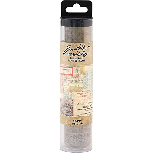 Bundle of Three Rolls Tim Holtz Idea-Ology Collage Paper Rolls Typography and Document Travel