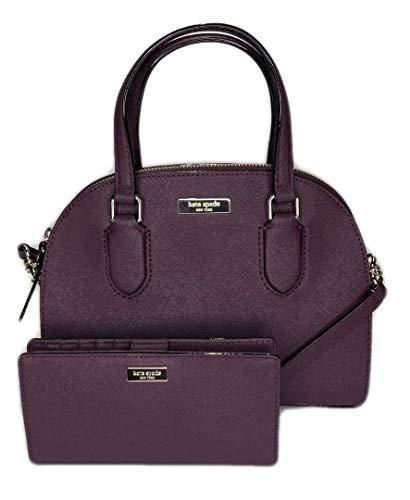 - Kate Spade New York Laurel Way Mini Reiley WKRU5639 bundled with matching Stacy Wallet (Deep Plum)
