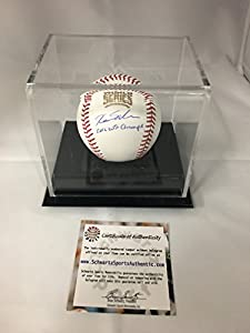 Kyle Schwarber Autographed Signed Chicago Cubs World Series MLB Baseball With Display Case Included Schwartz Sports COA & Hologram W/Photo From Signing