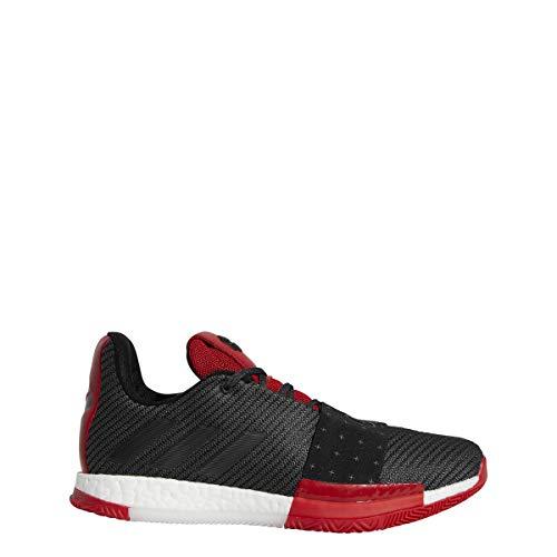 adidas Men's Harden Vol. 3 Basketball Shoes (9, Black/Red)
