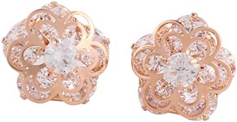 Personalized AAA Cubic Zircon Clip on Earrings Platinum/Gold/ Rose Gold Plated Earring