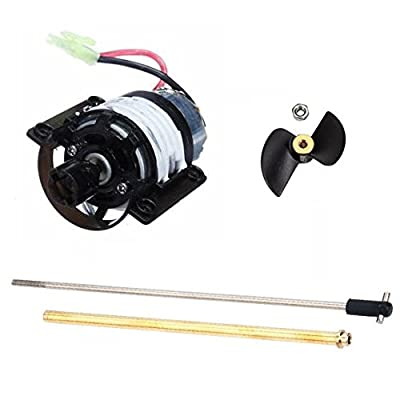 NiGHT LiONS TECH(TM) Motor Tail Propeller and Propeller Shaft spare parts for Feilun FT009 2.4G 4CH Remote Control High Speed RC Racing Boat with Water Cooling System