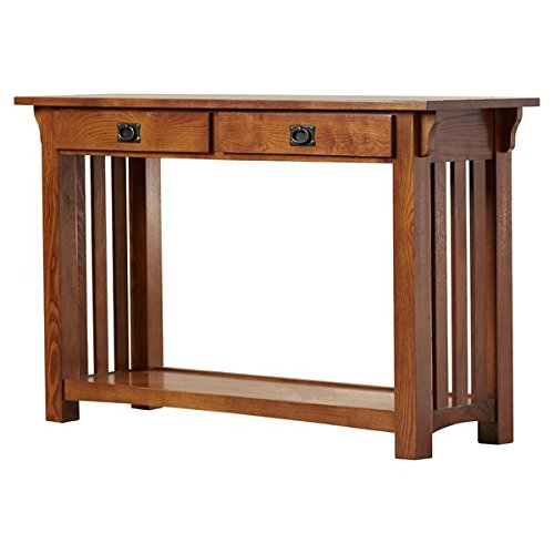 Console Table Solid Ash and Oak Veneers Bottom Display Shelf Full Extension Side Hung Metal Drawer Guides