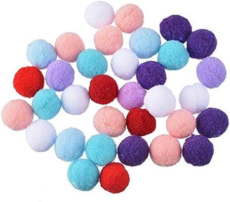 100 bolas de algodón de 1,5 cm para manualidades, decoración del ...