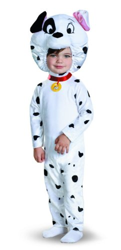 Disgise Disney 101 Dalmatians Classic Costume, White/Black, Small (Dalmatian Halloween Costume For Baby)