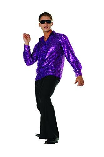 RG Costumes Disco Inferno Shirt, Purple, -