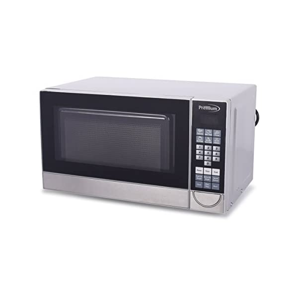 Premium PM70710 0.7 Cu. Ft. Counter Top Microwave Oven, Stainless Steel 1