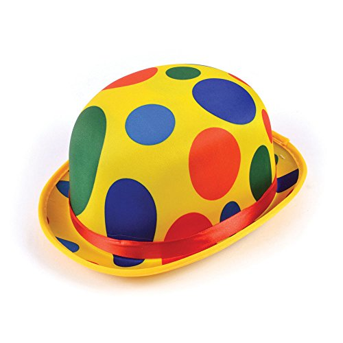 Forum Novelties 74469 Polka Dot Clown Derby, Multicolor, Standard, One Size, Pack of 1
