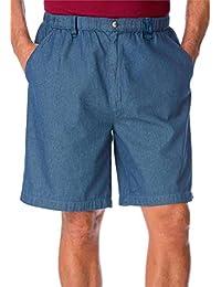 Big & Tall KNOCKAROUNDS Full Elastic Twill or Denim Shorts with Inside