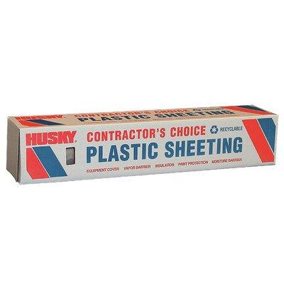 Husky CF0406C 4 ML Tyco Polyethylene Opaque Plastic Sheeting, 6' x 100', Clear