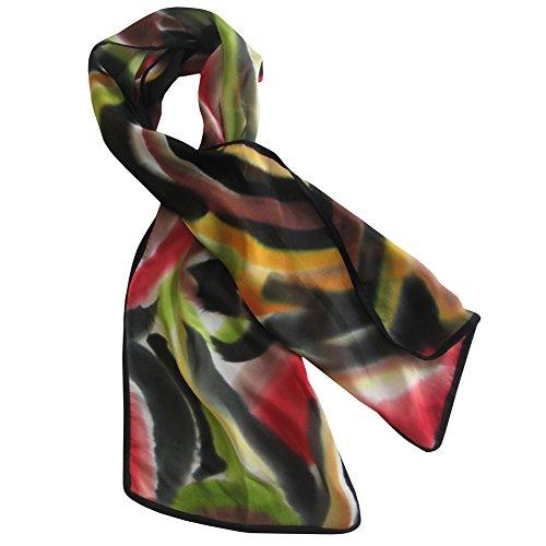 (ArtisanStreet's Bold Statement Hand Painted Silk Crepe de Chine)