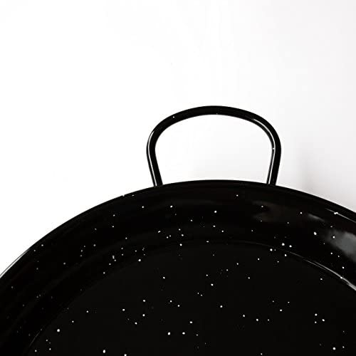 La Valenciana 10 cm, poêle à Paella en Acier émaillé Noir, Noir, 90 cm