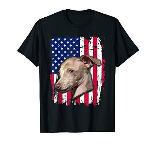 Italian Greyhound US flag TShirt 4th of July