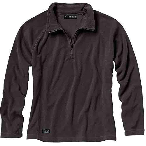 - DRI DUCK Womens Nano-Fleece Fusion Quarter-Zip Pullover (9397) -CHARCOAL -S