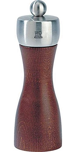Fidji Stainless Steel Pepper Mill Color: Cherry Stain, Size: 6