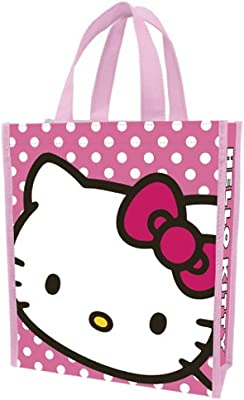 49de2cfbbc Amazon.com  Vandor 18173 Hello Kitty Small Recycled Shopper Tote ...