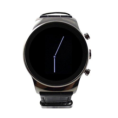SANOXY-LUX-SIM-WATCH-Slv Round Luxury Steel Smart Phone Watch, Silver by SANOXY