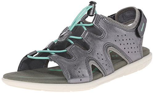 ECCO Footwear Womens Women's Bluma Toggle Sandal Dark Shadow Metallic 40 EU/9-9.5 M US