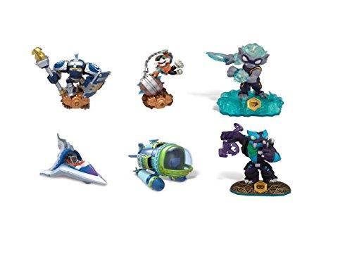 Skylanders Super Charge and Swap Force Bundle of 4 Assorted Figures High Volt Dive Bomber Trap Shadow Smash Hit Freeze Blade & Sky slicer