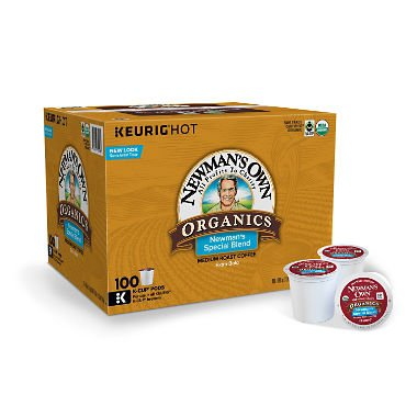 - Newman's Own Organics Special Blend Coffee K-Cups (100 K-Cups) - Packaging May Vary