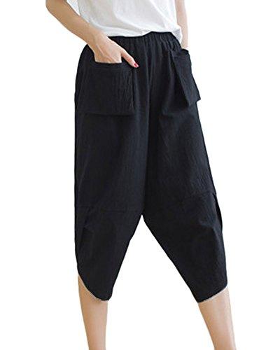 Mujeres Elastico Tallas Para Pantalones Harem Guiran Grandes