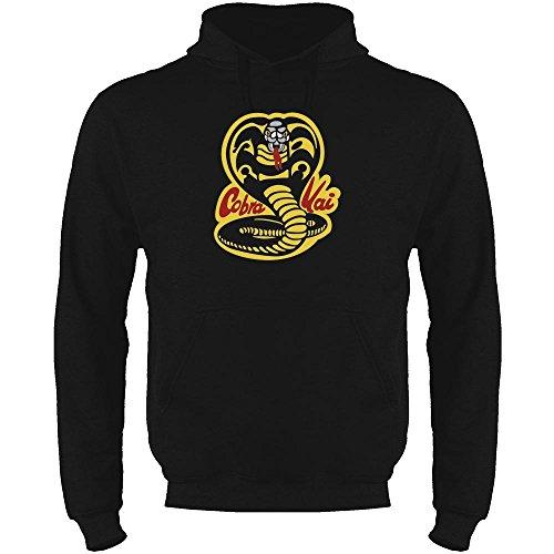 Cobra Kai Karate Dojo Halloween Costume Vintage Retro 80s Apparel Movie Black 3XL Mens Fleece Hoodie Sweatshirt