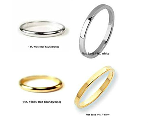 10 K.  14 K. Solid Gold Band,Wedding Band or Stacking Ring 2 mm. Handmade in U.S.
