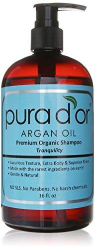 PURA D OR Argan Oil Premium Organic Shampoo Tranquility, 16 Ounce