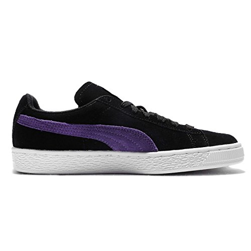 Puma Para Mujer Suede Classic Wns, Puma Black-royal Purple Puma Negro-royal Purple
