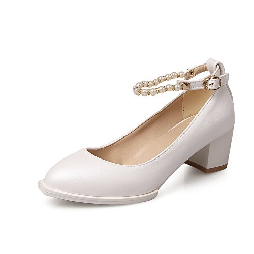 Heels Soft White Kitten Material Closed Pointed Pumps Toe Shoes Buckle Womens Solid AmoonyFashion Ona8qw5x7q