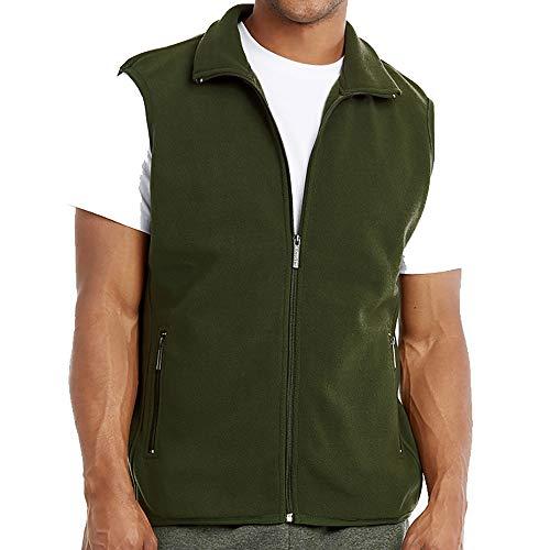 DailyWear Mens Full-Zip Plush Polar Fleece (Full Zip Polar Fleece Vest)