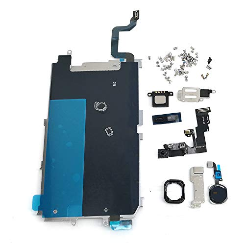 Screen LCD Metal Bracket Front Camera Flex Cable Small Parts Replacement for iPhone 6 (Black) ()
