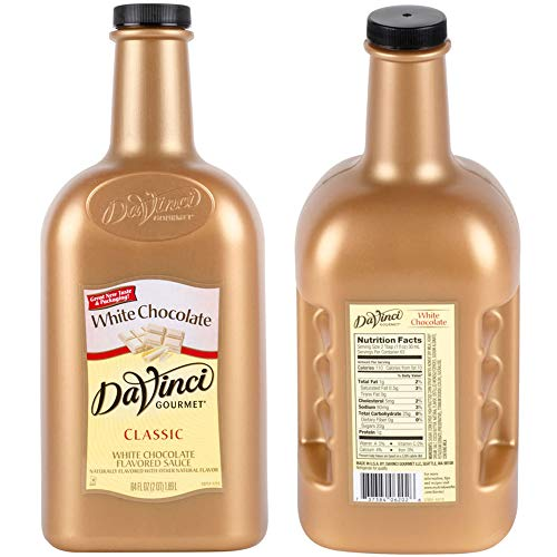 BWS 6 Bottles 64-Ounce DaVinci Gourmet White Chocolate Flavoring Sauces by Bulk Wholesale Supplies  (Image #1)