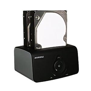 MARSHAL USB3.0対応 クローンHDDスタンド デュプリシリーズ MAL-4535SBKU3