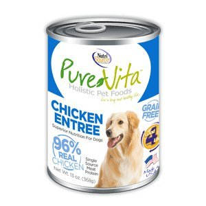 PureVita Grain Free Chicken Chicken Liver Canned Dog Food 12 13oz