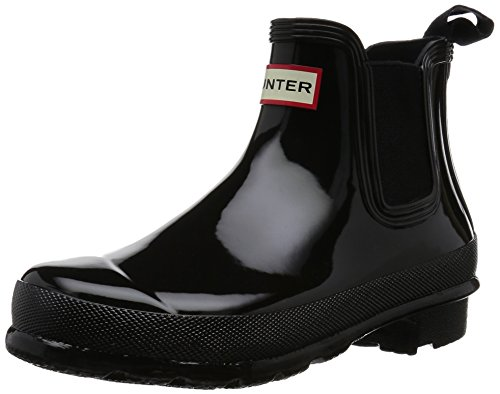 De Femme black Tab Hunter Womens Pluie One Schwarz Original Gloss Chelsea Bottes Xxn6wp0nzP
