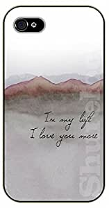 iPhone 5 / 5s In my life I love you more - black plastic case / Music lyrics, songs, love