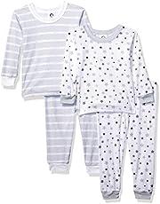 GERBER Baby Boys' Toddler Organic 2 Pack 2-Piece Cotton Pjs