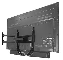 Mount-It! MI-SB39 Soundbar Bracket Universal Sound Bar TV Mount For Mounting Above or Under TV, Fits Sonos, Samsung, Sony, Vizio, Adjustable Arm Fits 32 to 70 Inch TVs, 33 Lbs Weight Capacity Black