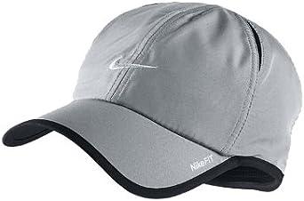 Amazon.com: Mens Nike Dri-Fit Featherlite Hat Light Grey ...